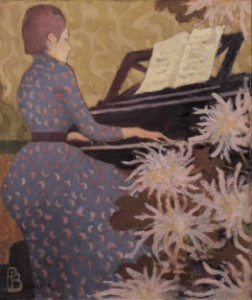 Bonnard jeune femme au piano