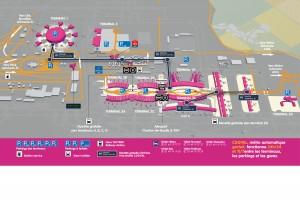 Carte aeroport CDG
