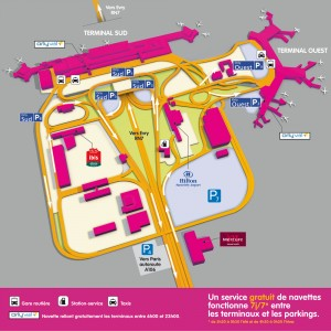 Carte aeroport orly