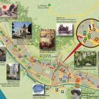 Le plan du village de Giverny